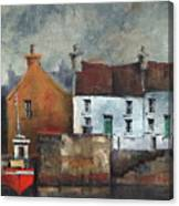Red Boat In Aran Canvas Print