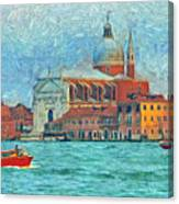 Red Boat Venice Canvas Print