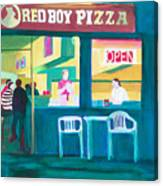 Red Boy Pizza Canvas Print