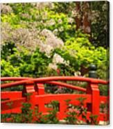 Red Bridge Springtime Canvas Print