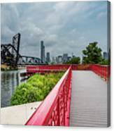 Red Bridge To Chicago Canvas Print