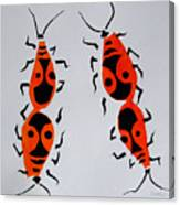 Red Bugs Canvas Print