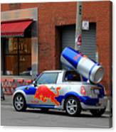 Red Bull Car Canvas Print