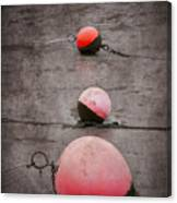 Red Buoys  Canvas Print
