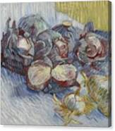 Red Cabbages And Onions Paris, October - November 1887 Vincent Van Gogh 1853  1890 Canvas Print