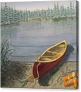 Red Canoe 3  Canvas Print