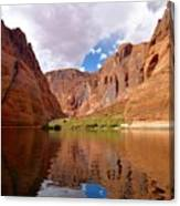 Red Canyon Reflections Canvas Print