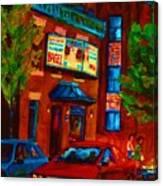 Red Car Blue Sky Canvas Print