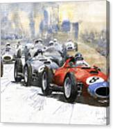 1957 Red Car Ferrari 801 German Gp 1957  Canvas Print