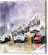 1954 Red Car Maserati 250 France Gp Canvas Print