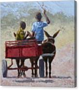 Red Cart Canvas Print