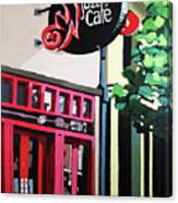 Red Cat Jazz Cafe Canvas Print