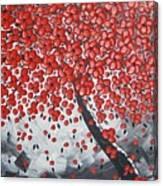 Red Cherry Tree Canvas Print