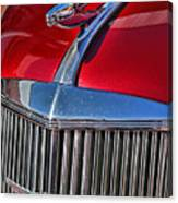 Red Chevrolet Grill And Hood Ornament Canvas Print