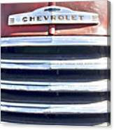Red Chevrolet Grill Canvas Print