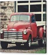 Red Chevrolet Canvas Print