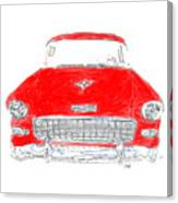 Red Chevy T-shirt Canvas Print