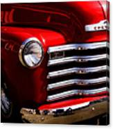 Red Chevy Truck Canvas Print
