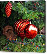Red Christmas Balls Canvas Print