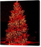 Red Christmas Tree Canvas Print