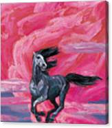 Red Cloud Horse Canvas Print