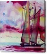 Red Cloud Sail Canvas Print