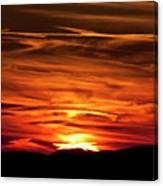 Red Clouds At Sunset Canvas Print