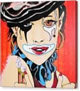 Red Clown Canvas Print