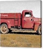 Red Coke Truck Canvas Print