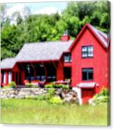 Red Cottage Canvas Print