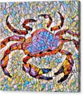 Red Crab Stained Glass Canvas Print