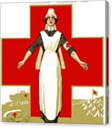 Red Cross Nurse - Help Canvas Print