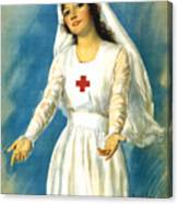 Red Cross Nurse - Ww1 Canvas Print