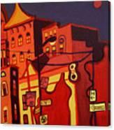 Red Cruising Baltimore Canvas Print
