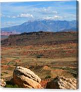 Red Desert With La Sal Mountains Canvas Print