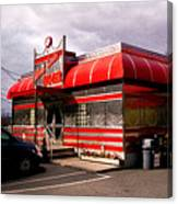Red Diner Canvas Print