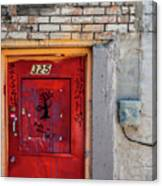 Red Door 325  Canvas Print