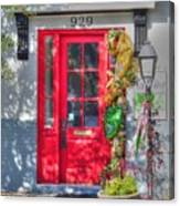 Red Door At Night -- Sailor's Delight Canvas Print