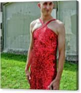 Red Dress Run - Nola 7 Canvas Print