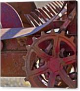 Red Drive Cog Canvas Print