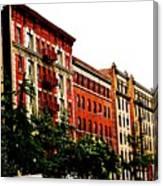 Red Facade Canvas Print