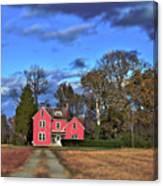 Red Farm House Canvas Print