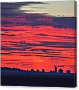 Red Farm Sunrise Canvas Print