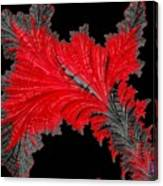 Red Feather - Abstract Canvas Print