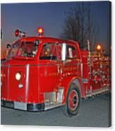 Red Firetruck Canvas Print