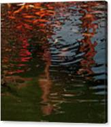 Red Fishes In A Pond Pictorial II Canvas Print