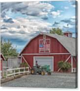 Red Flag Barn Canvas Print