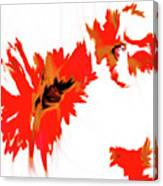 Red Floating Florals Canvas Print