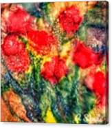 Red Floral Abstract Canvas Print