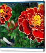 Red Flower In Autumn Canvas Print